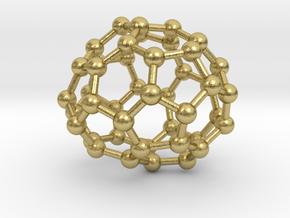 0702 Fullerene c44-74 c1 in Natural Brass