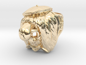 Famous Waggis Ring / 22.5mm in 14k Gold Plated Brass