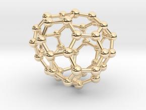 0710 Fullerene c44-82 s4 in 14k Gold Plated Brass