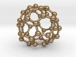 0711 Fullerene c44-83 d2 in Polished Gold Steel