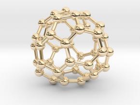 0711 Fullerene c44-83 d2 in 14k Gold Plated Brass