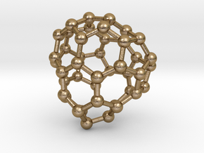 0712 Fullerene c44-84 cs in Polished Gold Steel