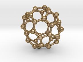 0714 Fullerene c44-86 d3d in Polished Gold Steel