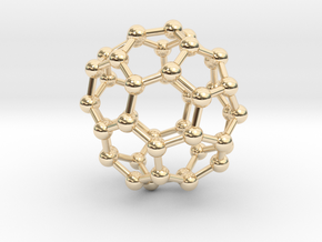 0714 Fullerene c44-86 d3d in 14k Gold Plated Brass