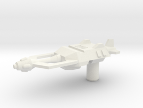 Skrapnel Gun in White Natural Versatile Plastic