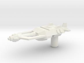 Skrapnel Gun in White Natural Versatile Plastic