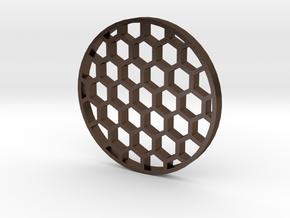 36mm Honeycomb Kill Flash (Stainless Steel) in Polished Bronze Steel