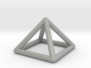0719 J01 Square Pyramid  E (a=1cm) #1 in Aluminum