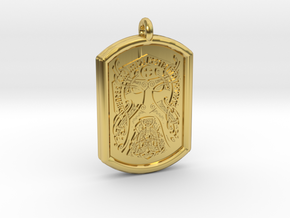 Thor  Knotwork Norse Pendant in Polished Brass