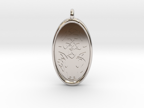Celtic Stag deer Pendant in Rhodium Plated Brass
