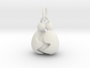 *NEW* Egg Hug Family Pendant in White Premium Versatile Plastic