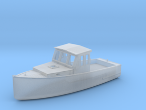 S Scale Fishing Boat in Smooth Fine Detail Plastic
