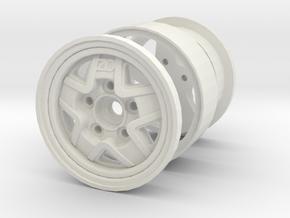 zezo-beadlock-narrow-rim-A in White Natural Versatile Plastic