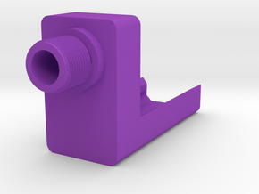 Frame-Mounted Barrel Adapter for G17  in Purple Processed Versatile Plastic