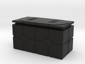 Imperial Crate 3 (2 Parts) in Black Natural Versatile Plastic