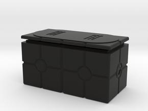 Imperial Crate 3 (2 Parts) in Black Natural Versatile Plastic