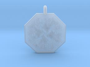 Fish Celtic Octagonal Pendant in Smooth Fine Detail Plastic