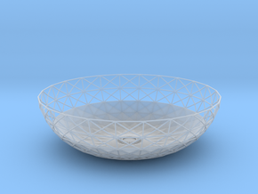 Semiwire Bowl in Smooth Fine Detail Plastic