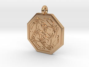 Hare Celtic Octagon Pendant in Polished Bronze