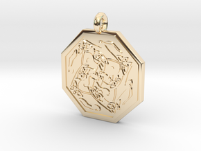 Hare Celtic Octagon Pendant in 14K Yellow Gold