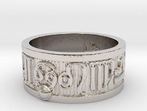 Zodiac Sign Ring Cancer / 20mm in Rhodium Plated Brass