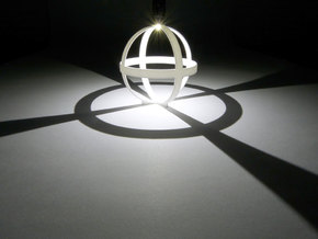 Octahedron (stereographic projection) in White Strong & Flexible