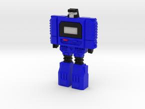 Retro Time Robot (Blue) in Natural Full Color Sandstone