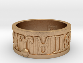 Zodiac Sign Ring Aries / 21mm in Natural Bronze