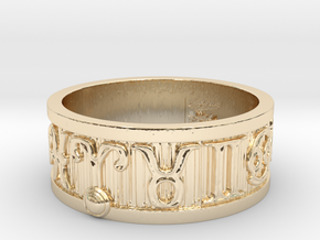 Zodiac Sign Ring Aries / 22.5mm in 14K Yellow Gold