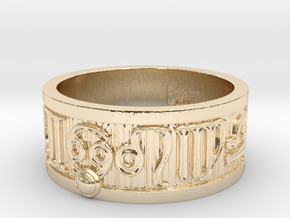 RingCancer_21mm in 14k Gold Plated Brass