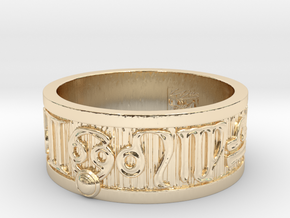 Zodiac Sign Ring Cancer / 22mm in 14K Yellow Gold