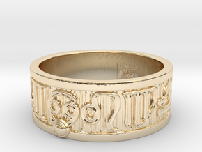 Zodiac Sign Ring Cancer / 23mm in 14k Gold Plated Brass
