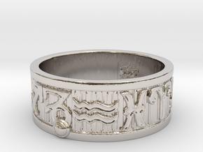 Zodiac Sign Ring Capricorn / 23mm in Rhodium Plated Brass