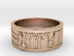 Zodiac Sign Ring Pisces / 22mm in 14k Rose Gold Plated Brass