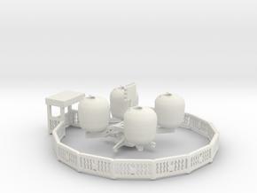 n scale sellner spin the apple carnival ride in White Natural Versatile Plastic