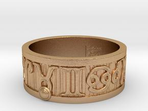 Zodiac Sign Ring Taurus / 22.5mm in Natural Bronze
