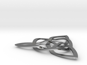 Trinity Knot in Polished Silver (Interlocking Parts)