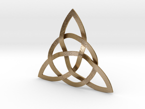Trinity Knot in Polished Gold Steel