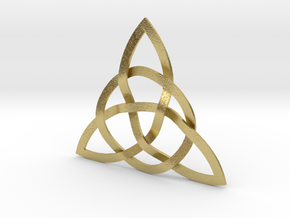 Trinity Knot in Natural Brass (Interlocking Parts)