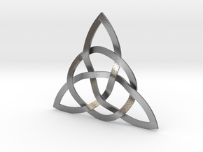 Trinity Knot in Natural Silver (Interlocking Parts)