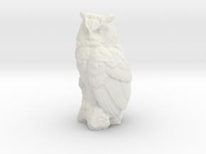 O Scale Owl in White Natural Versatile Plastic