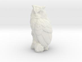 G Scale Owl in White Natural Versatile Plastic