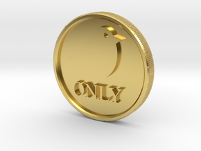 Birds Only Ball Marker in Polished Brass
