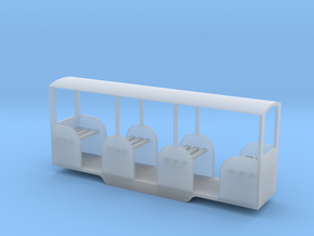 Miniature Railway Coach 1:29th on 9mm in Smooth Fine Detail Plastic