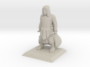Human Cleric in Natural Sandstone
