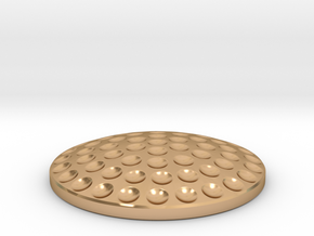 Golf Ball Ball Marker in Polished Bronze