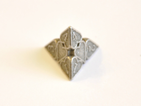 D4 Balanced - Hearts in Polished Bronzed Silver Steel