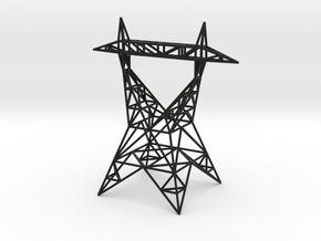 Pylon Earrings Stand ver.2 in Black Premium Versatile Plastic
