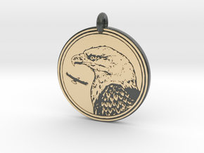 Bald Eagle Animal Totem Pendant in Glossy Full Color Sandstone