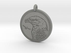 Bald Eagle Animal Totem Pendant in Gray Professional Plastic